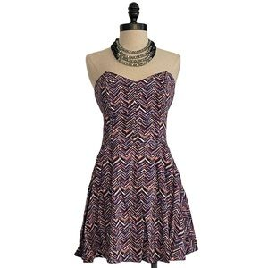 Material Girl Geometric Zig Zag Print Dress